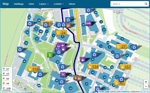 Southampton University Map University of Southampton Open Data Service | Open Data Service